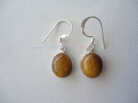 Tiger's Eye - Silver Earring